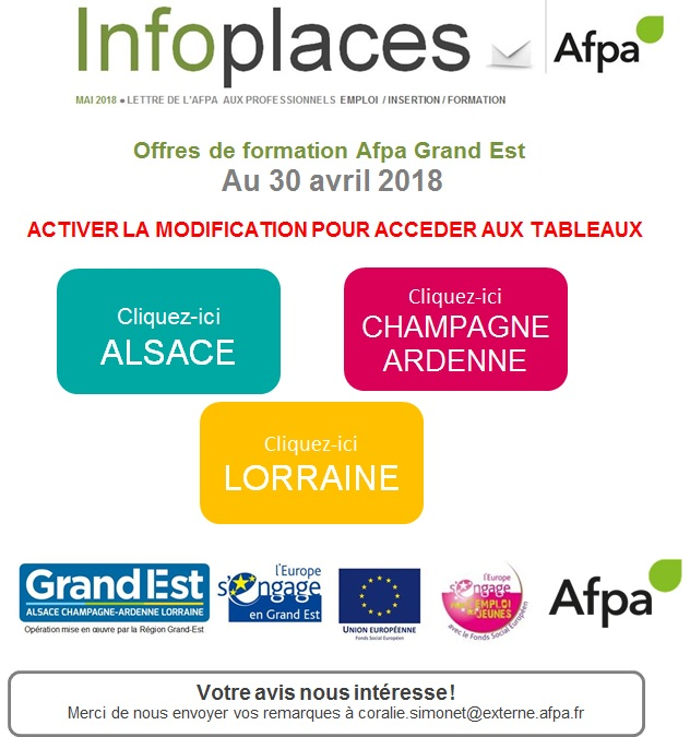 INFO PLACES AFPA