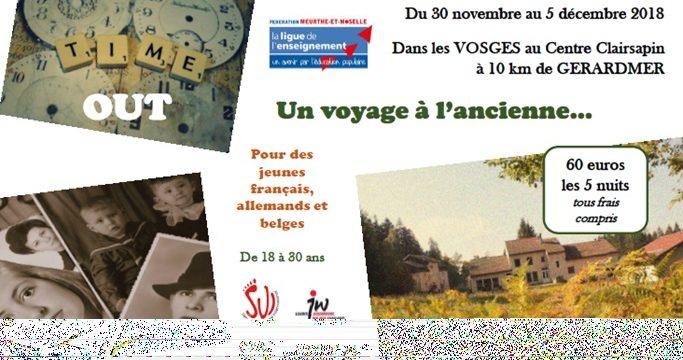 Un voyage à l'ancienne avec des jeunes Belges, Allemands et Français