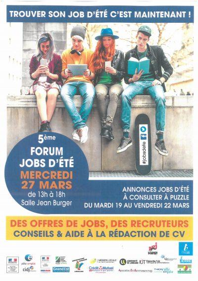 5ème forum jobs d'été