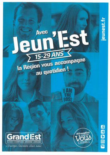 Avec Jeun'est la Région vous accompagne!!