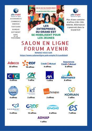 salon en ligne forum avenir du 8 au 26 mars 2021