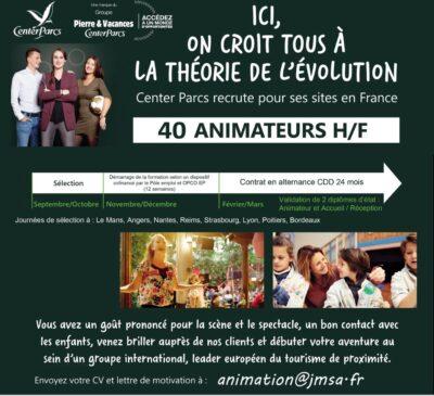 Recrutement de 40 animateurs