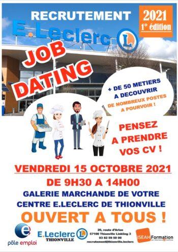 Job Dating Recrutement Leclerc vendredi 15 octobre 2021